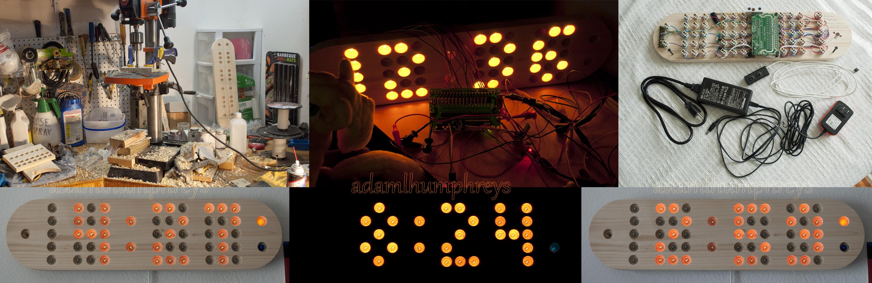 Protean8x2 Remote Controlled Incandescent Clock