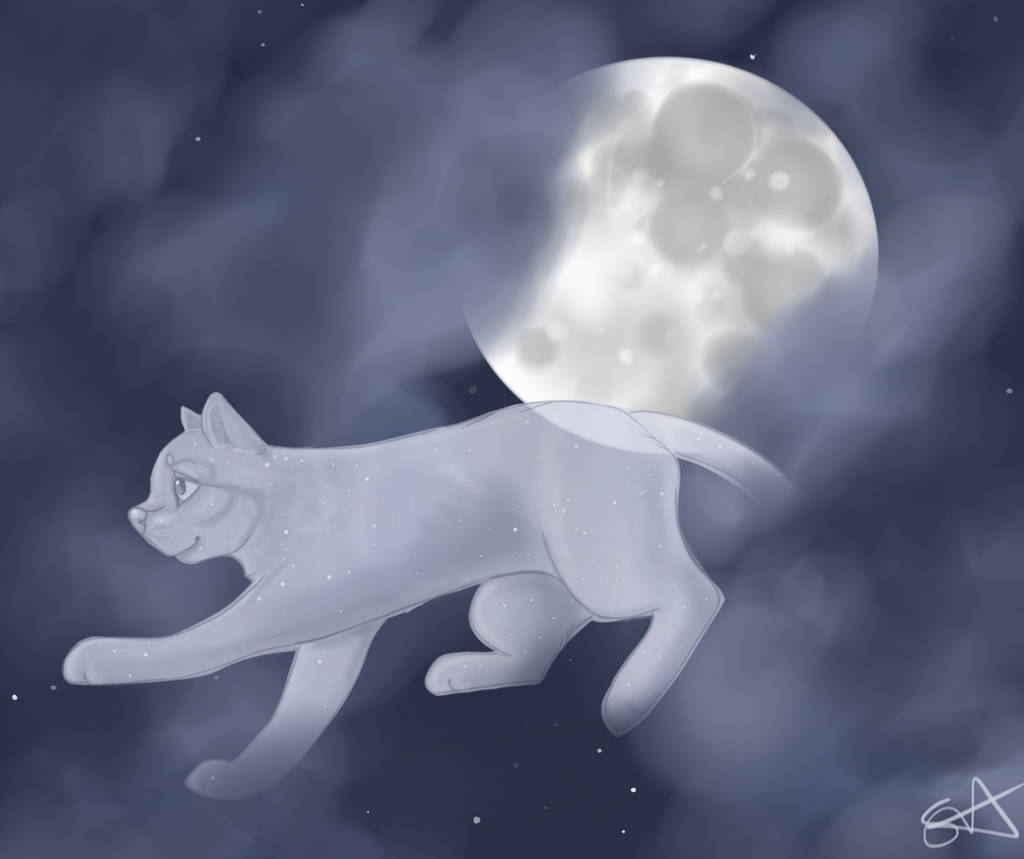The Cat Jumped Over the Moon by TheFallenWhisper