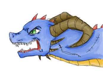 Angry Dragon by DracoJane7