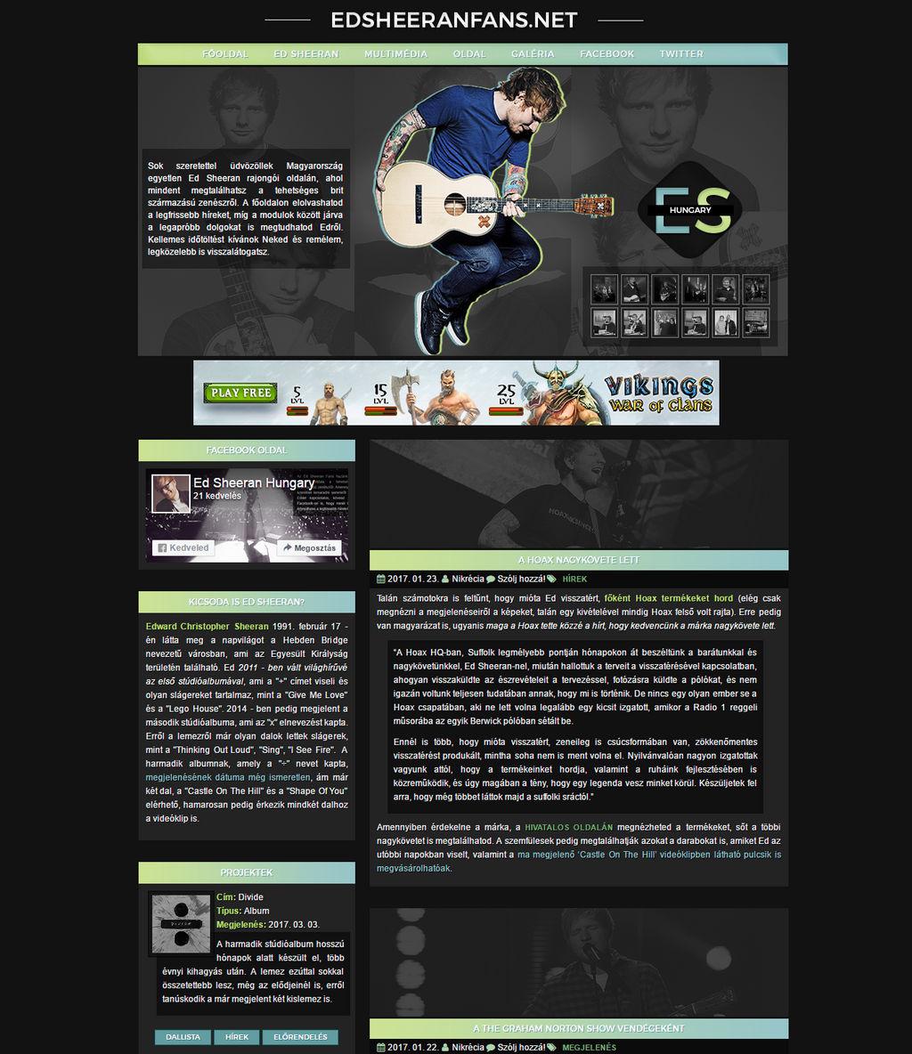 Ed Sheeran Layout by Nikrecia