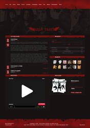 Papa Roach webdesign by Waterboy1992