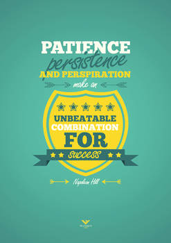 Patience, persistence and perspiration ...