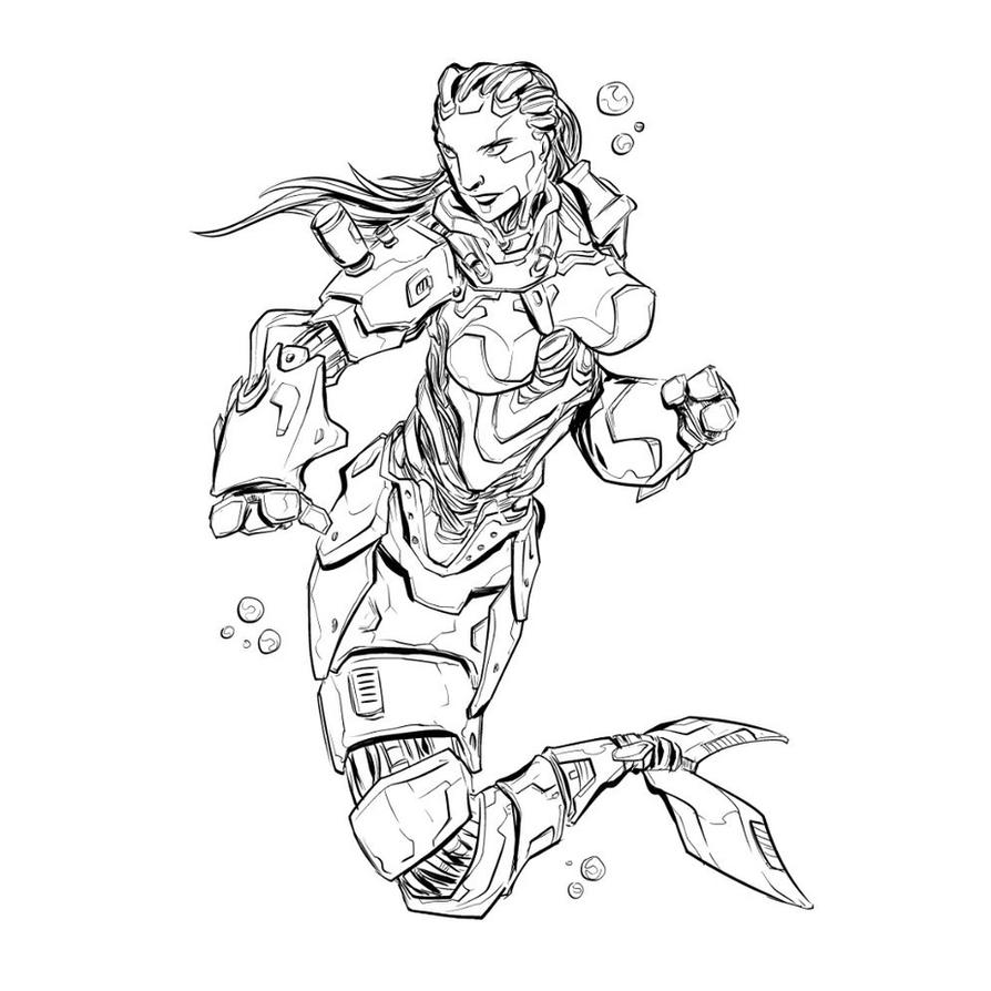 Cyborg Mermaid by route345