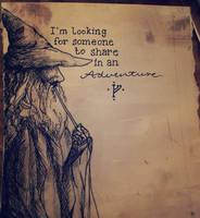 sneaky gandalf by JaneWolfskin