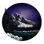 Digital Bob Ross: Hidden Winter Moon Oval S15 Ep.5
