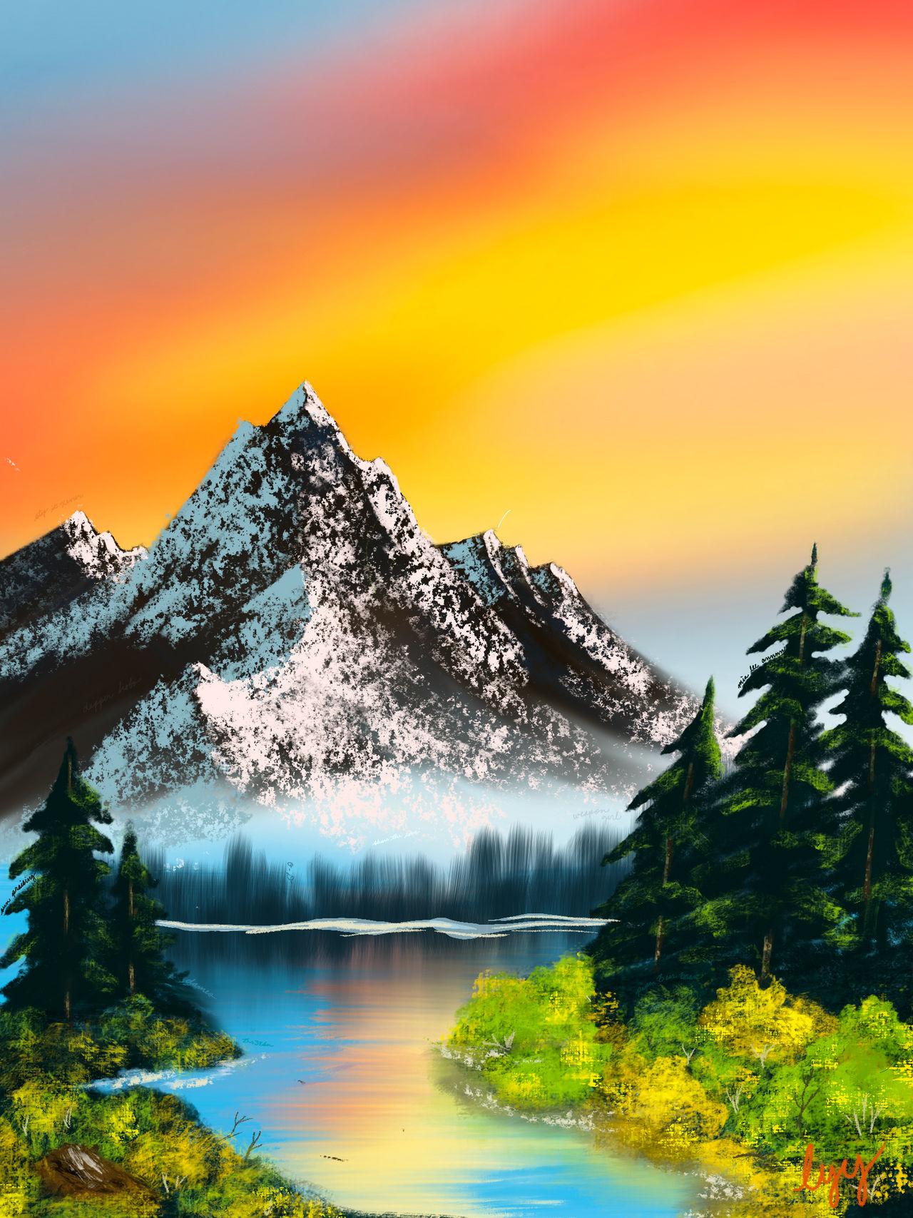 Digital Bob Ross: Peaceful Reflections (S15 Ep.4)