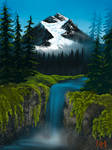 Digital Bob Ross: Valley Waterfall (S23 Ep.8)