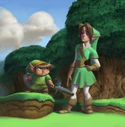 Link vs. Link by Artsammich
