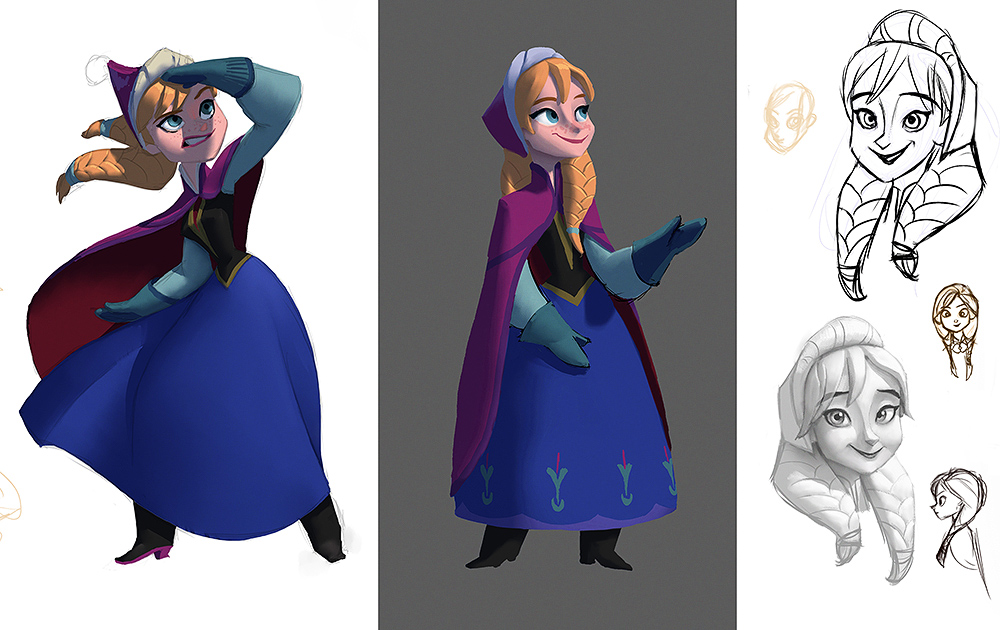 Disney Character Design Process : Disney infinity anna designs by artsammich on deviantart