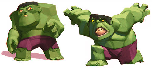 Disney Infinity Hulk (early concepts)