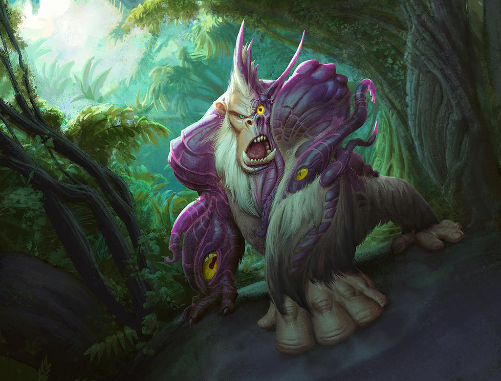 Hearthstone Corrupted Mukla by Artsammich