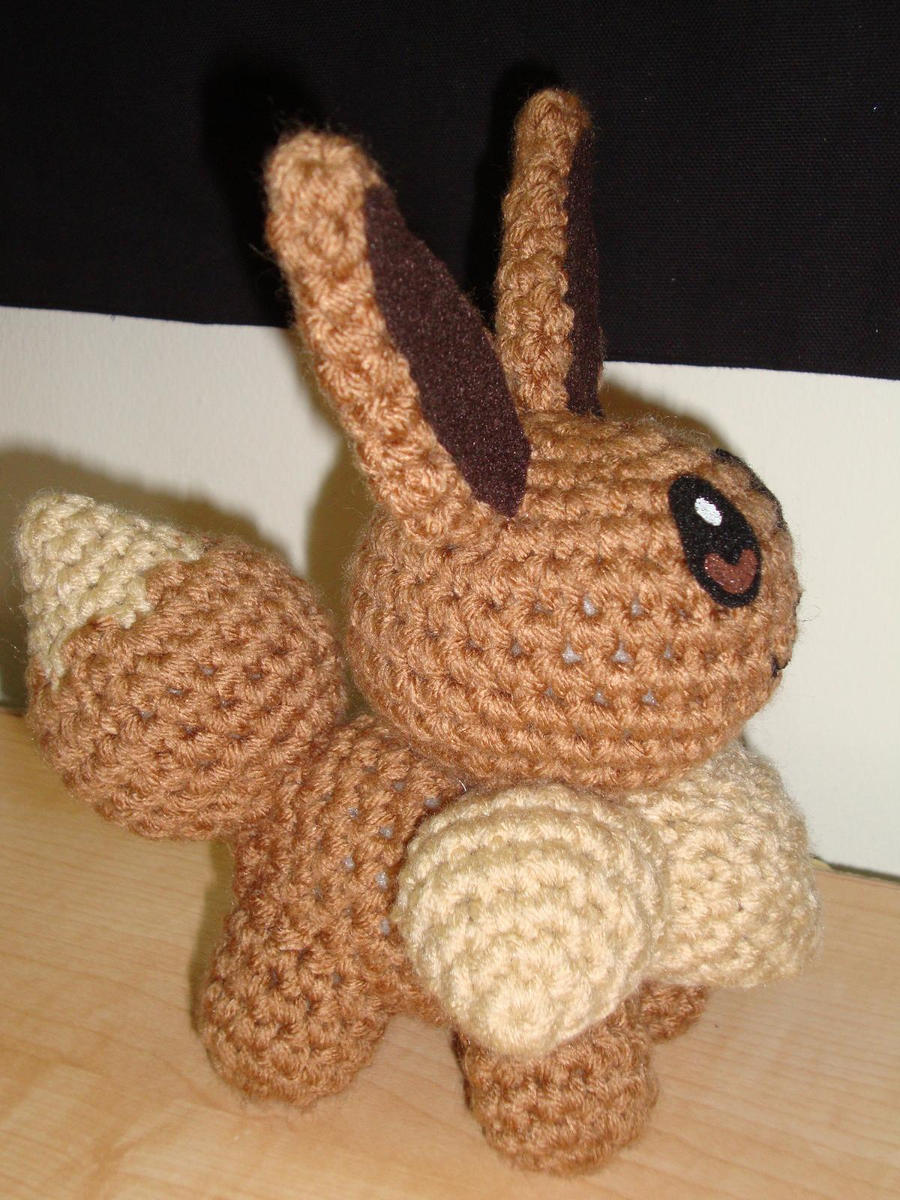 Amigurumi Crochet Pattern Etsy : Eevee Side by Lass-Samantha on DeviantArt