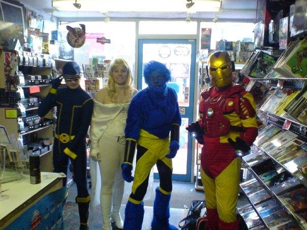 X men + Iron man by GiveMeSomeSugar