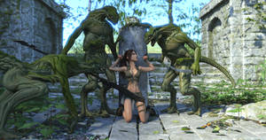 Lara and the Lizardmen Two 4k