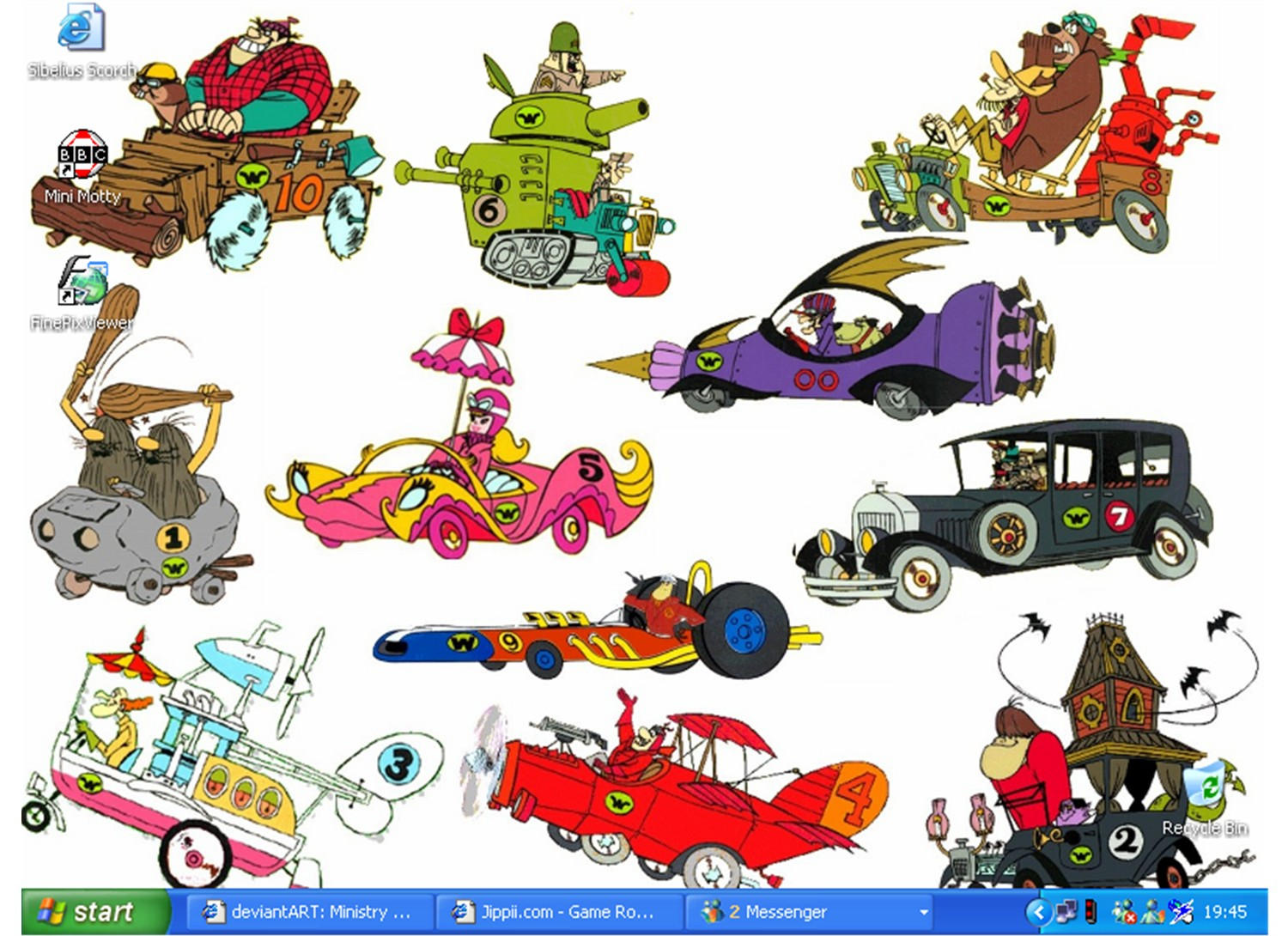 Wacky Races by bluestar63 on DeviantArt