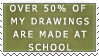 Stamp - Over 50 percent