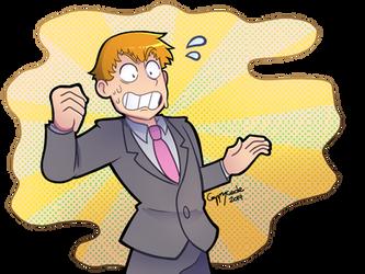 He's!!! Sweaty!!!! by cappy-code