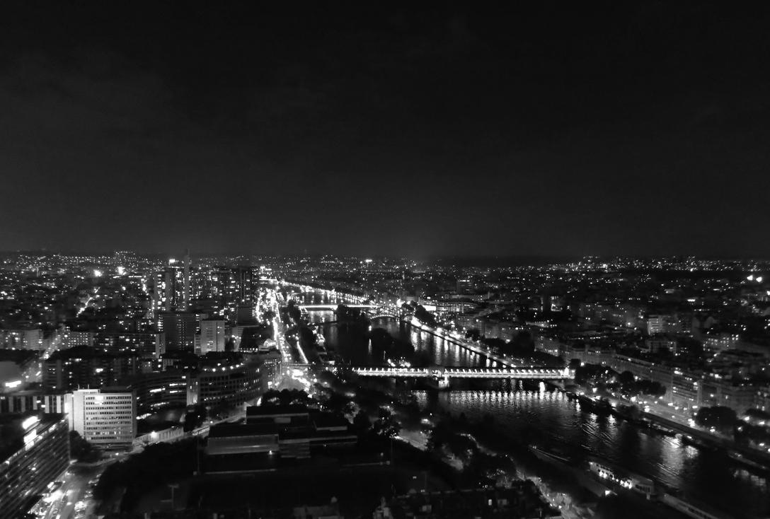 Paris At Night BW by Solsteyn