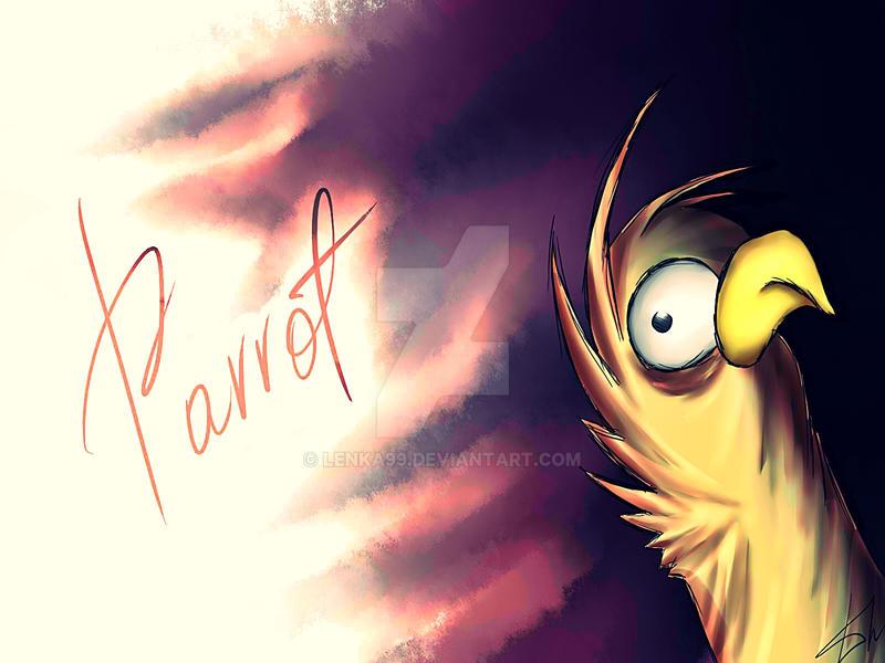 Grazy parrot by Lenka99