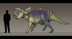Nasutoceratops titusi by Paleocolour