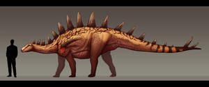 Tuojiangosaurus multispinus by Paleocolour