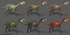 The Isle - Dryosaurus - Mottled (+Alts.) by Paleocolour