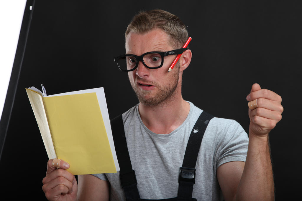 Reading Guy by pixelmixtur-stocks