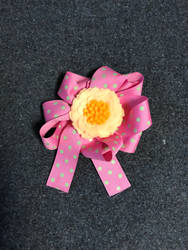 my first ribbon bow