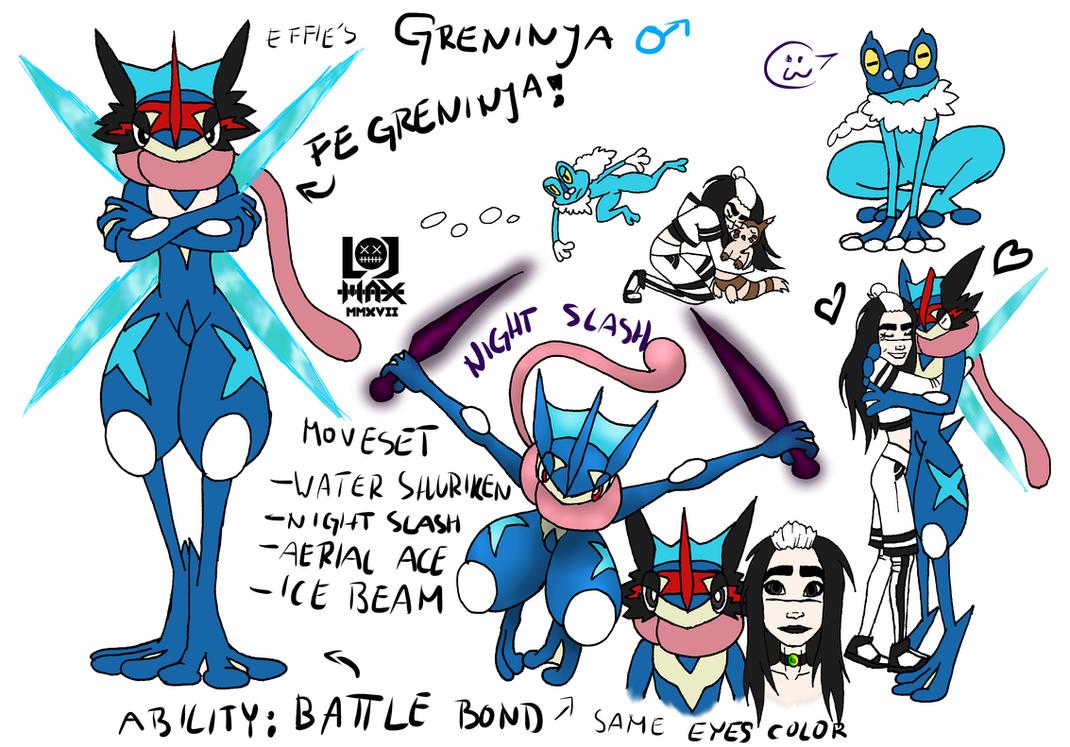 Effie's Greninja Concept Art by Hlontro
