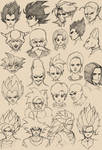 960 Th Sketches Z fighters