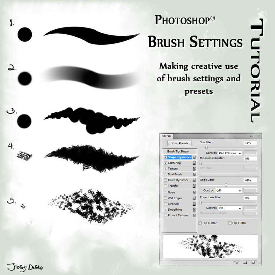 A couple of my fave brushes for photoshop by balloonwatch on deviantart photoshop brush settings tutorial by jio derako baditri Choice Image