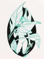 Inktober 2017 Day 7: Shy by aemuaemu