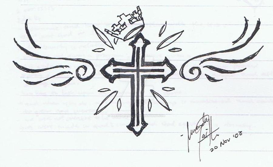 Winged Cross by raelyn-earfalas