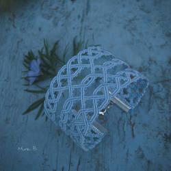 Light Blue Celtic Inspired Macrame Bracelet