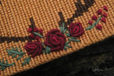 Bracelet with hand embroidery. Details