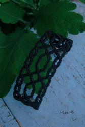 Black Celtic Inspired Micromacrame Bracelet