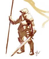 Knight Sketch by Sethard