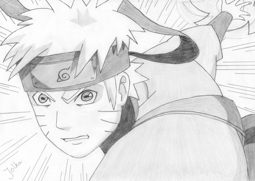 how to draw naruto sage mode face