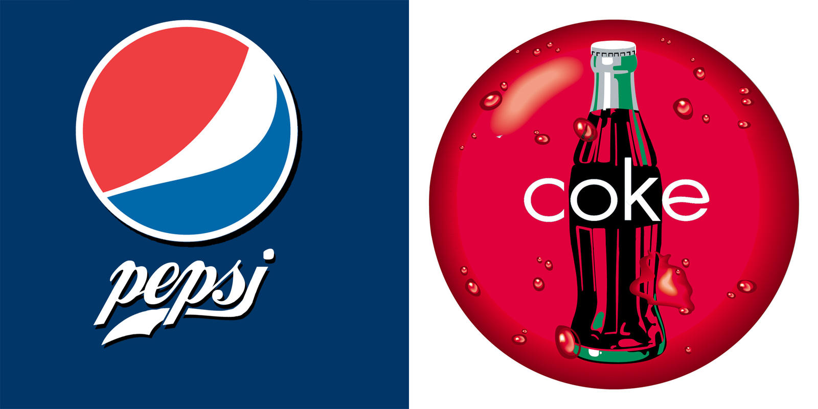coca cola vs pepsi The coke (coca cola) vs pepsi wars have been raging for over a century now, turning soda into a multi billion dollar a year industry but just who are the titans of this industry, how did they get to where they are, and which of them reigns supreme we thought it would be fun to take a closer look at the two.
