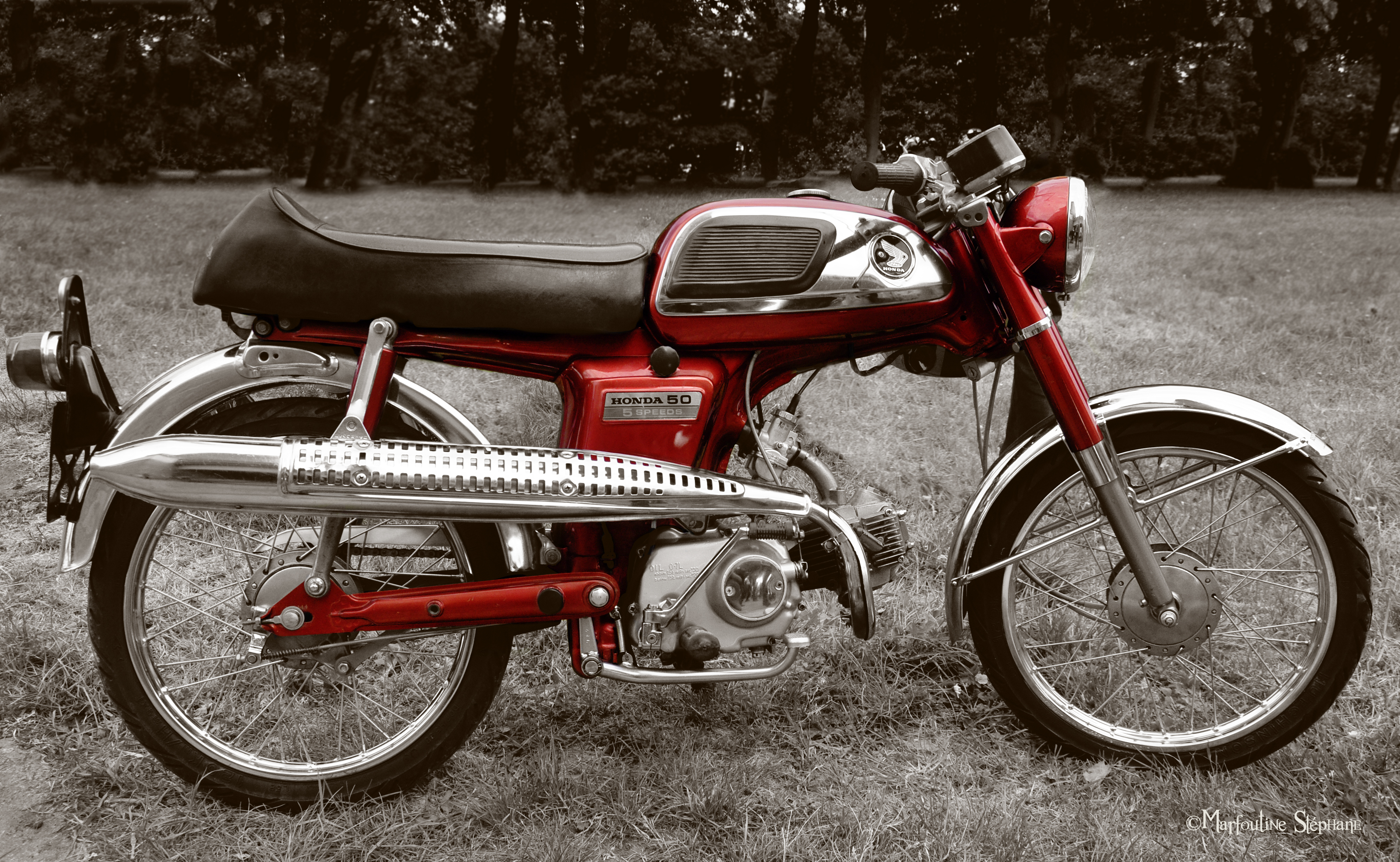 honda ss 50 by sulfochromix on deviantart. Black Bedroom Furniture Sets. Home Design Ideas