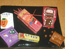 what cmes in a bag japan candy by anime0freak97