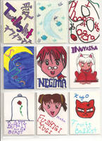 hand made trading cards by anime0freak97