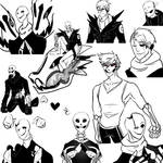 Undertale Doodles- Gaster and Ace