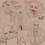[UNDERTALE] Lots of Sans by MrPutt