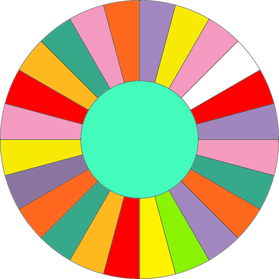 Blank wheel with no bankrupts by leafman813 on deviantart for Wheel of fortune board template
