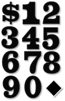 Individual Numbers (Chesterfield Font) by LeafMan813