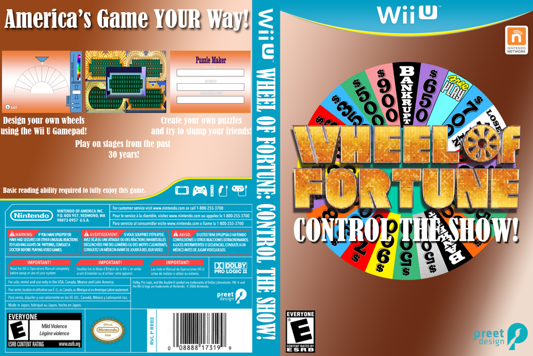 online wheel of fortune template - wheel of fortune control the show updated boxart by