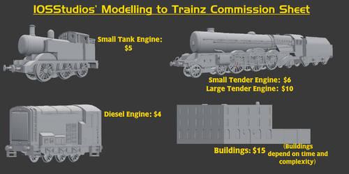 My Trainz Commission Sheet