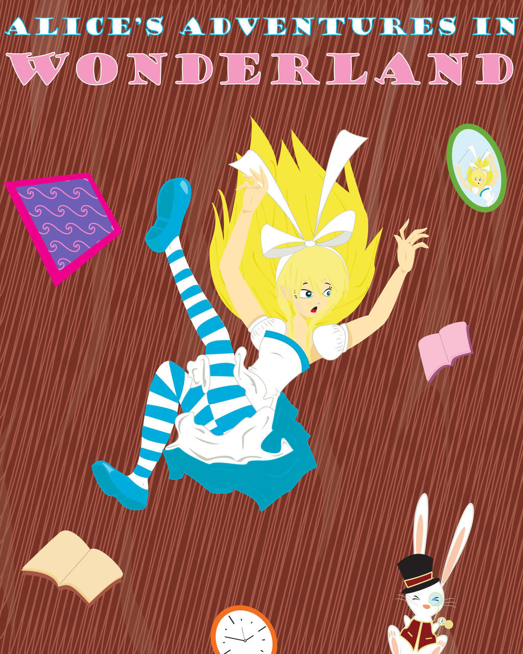 Alice In Wonderland Classic Book Cover ~ Alice in wonderland book cover by barbiche assault on