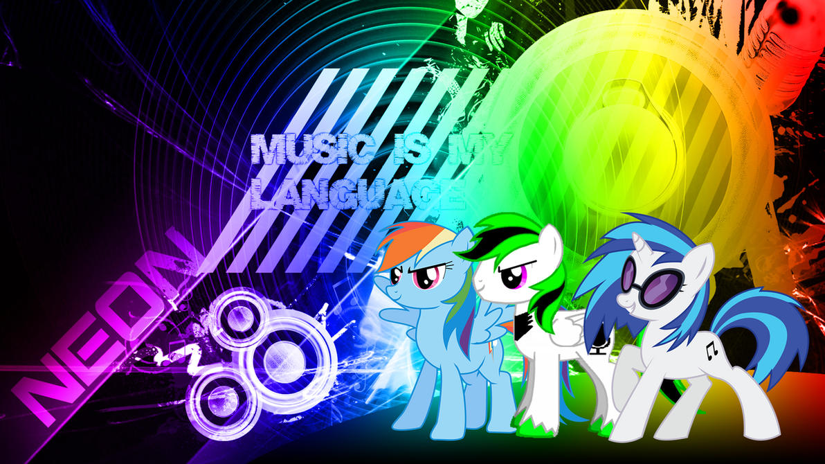 Download Wallpaper Music Rainbow - mlp_music_wallpaper__neon__by_neonthepegasus-d5d2q9b  2018_932773.jpg